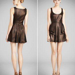 Jay Godfrey Metallic Mini Dress with Pockets